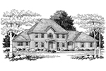 Greek Revival Home Plan Front Image of House - 051D-0115 | House Plans and More