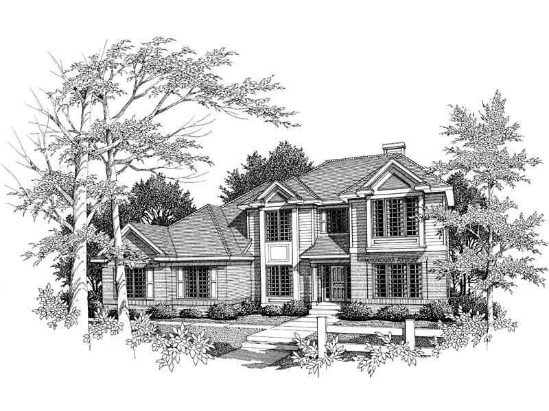 Modern House Plan Front of Home - 051D-0127 | House Plans and More