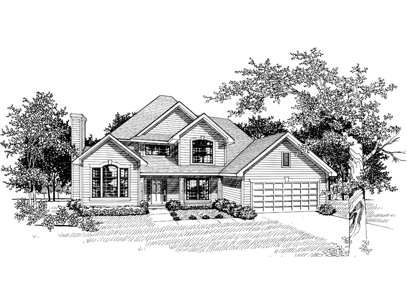 Traditional House Plan Front of Home - 051D-0139 | House Plans and More