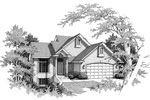 Traditional House Plan Front Image of House - 051D-0141 | House Plans and More