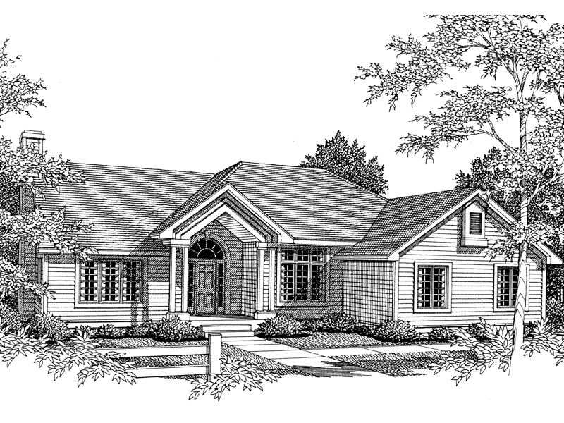 Traditional House Plan Front of Home - 051D-0153 | House Plans and More