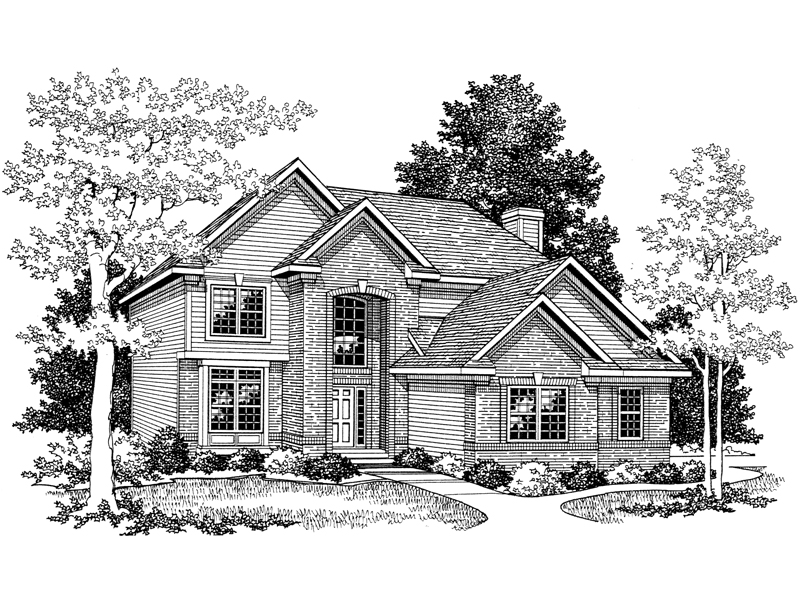 Gables Decorate Exterior Of This Home Plan