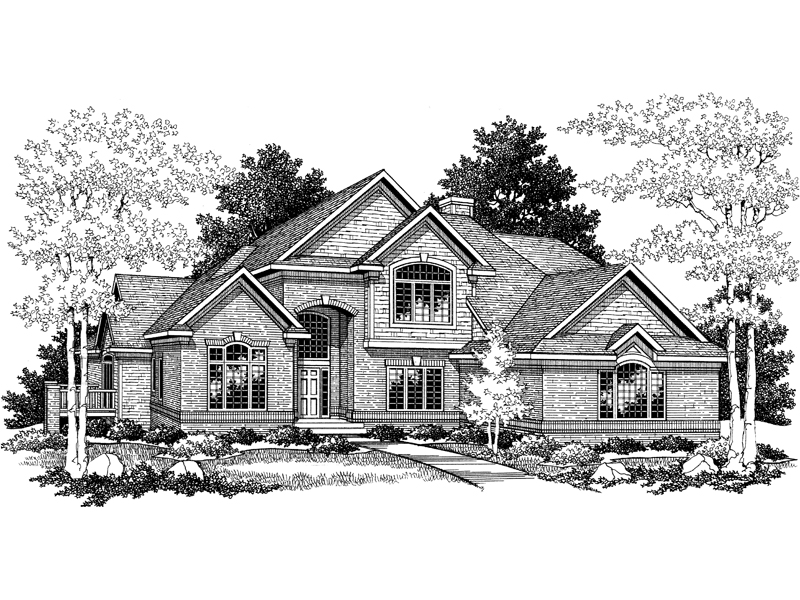 European House Plan Front of Home - 051D-0179 | House Plans and More