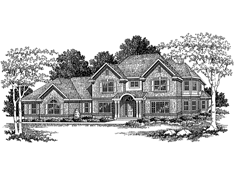 Two-Story Home Has Symmetrical Style And Covered Front Porch