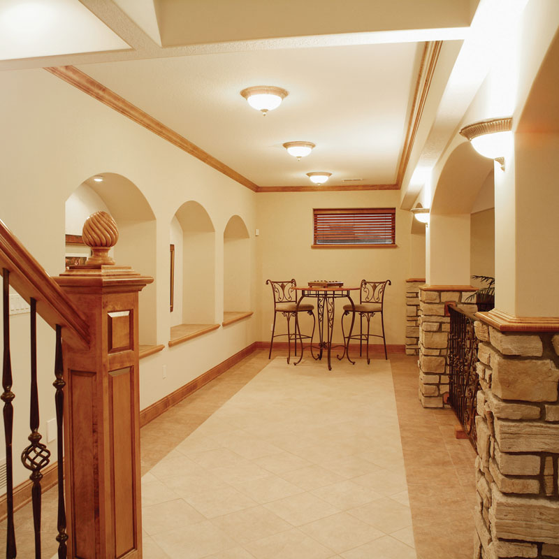 Ranch House Plan Basement Photo 03 051D-0187