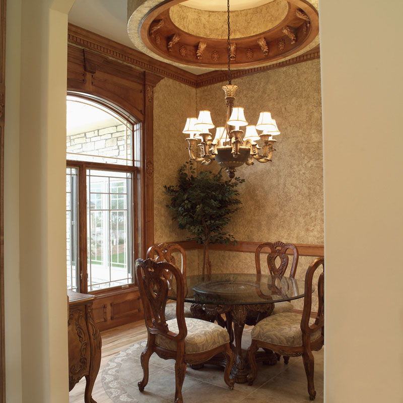 Luxury House Plan Dining Room Photo 01 051D-0187