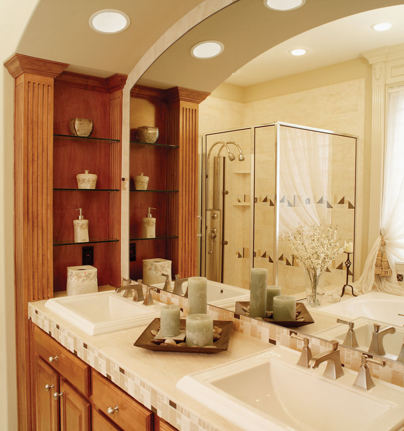 Luxury House Plan Master Bathroom Photo 01 - 051D-0187 | House Plans and More