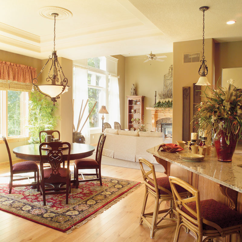 Shingle House Plan Dining Room Photo 03 051D-0188