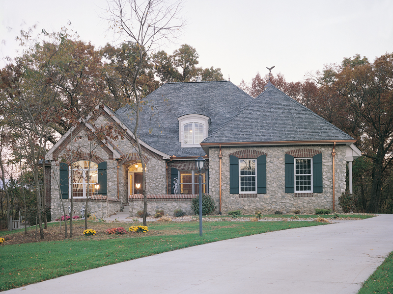 European House Plan Front of Home 051D-0189