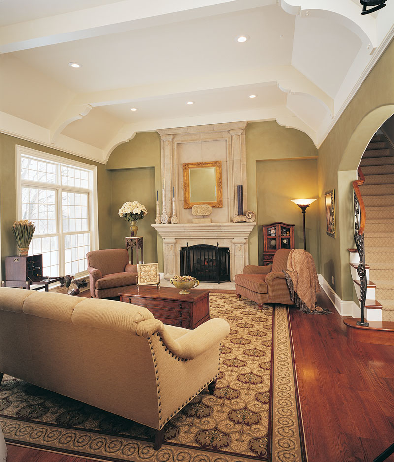 English Tudor House Plan Living Room Photo 01 051D-0189