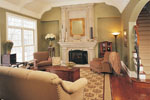 English Tudor House Plan Living Room Photo 01 - 051D-0189 | House Plans and More