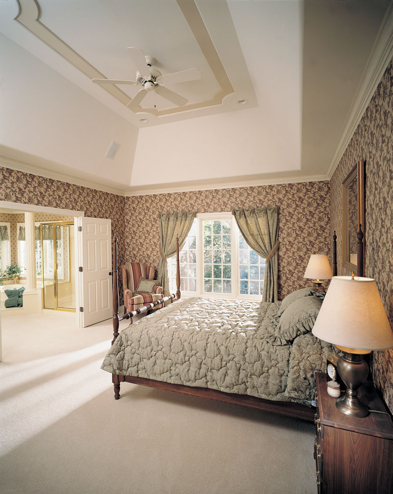 European House Plan Master Bedroom Photo 01 051D-0190