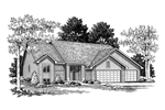 Traditional Ranch Home Plan With Gabled Design