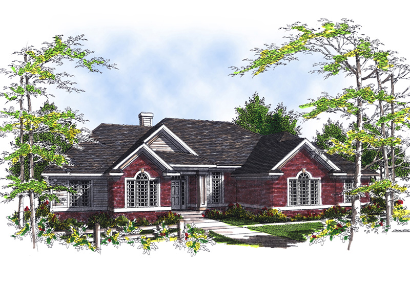 Traditional House Plan Front of Home 051D-0193