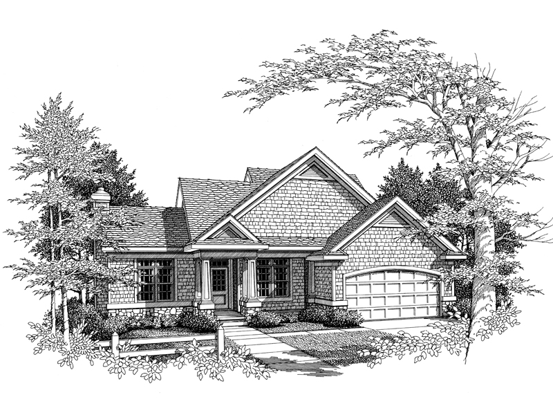 Traditional Shingled Home Plan