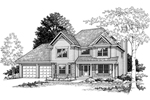 Gratifying Traditional Two-Story Design
