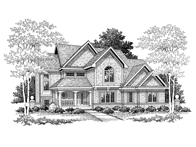 Traditional House Plan Front of Home - 051D-0212 | House Plans and More