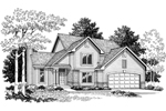 Arts and Crafts House Plan Front Image of House - 051D-0217 | House Plans and More