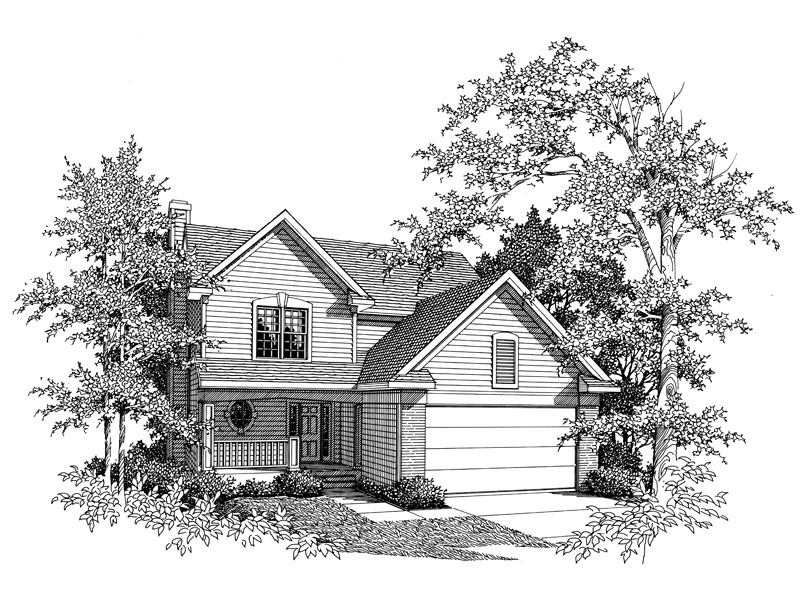 Traditional Country Design With Double Gables