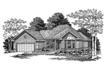 Traditional Brick Ranch With Front Bay Window