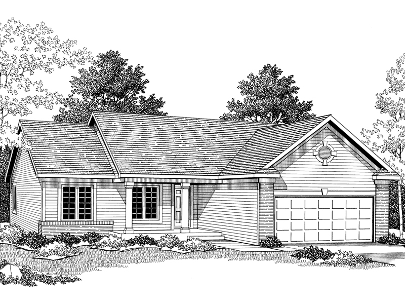 Traditional House Plan Front of Home - 051D-0250 | House Plans and More