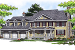 Grand Farmhouse Style Home Is Loaded With Curb Appeal