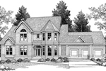 Arts and Crafts House Plan Front Image of House - 051D-0258 | House Plans and More