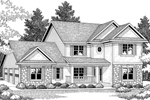 Stone Adds Rustic Touch To This Two-Story Home
