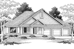 Sylish Ranch Craftsman Home With Multiple Gables
