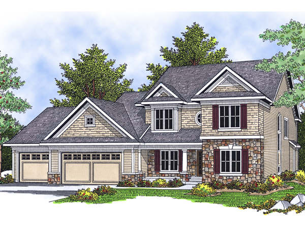 Osage beach shingle style home plan 051d 0277 house for Shingle style beach house plans