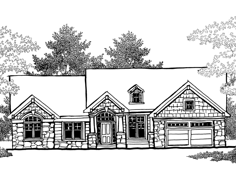 Rustic Home Plan Front of Home - 051D-0294 | House Plans and More