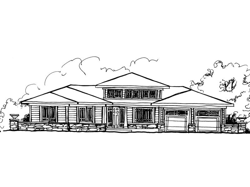 Sleek Sprawling Contemporary Home Has Stone Detail