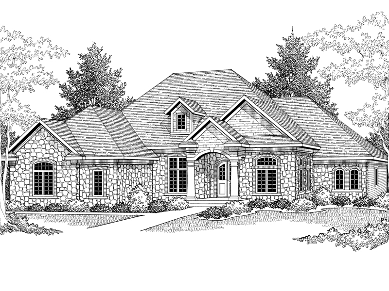 European House Plan Front Image of House - 051D-0298 | House Plans and More