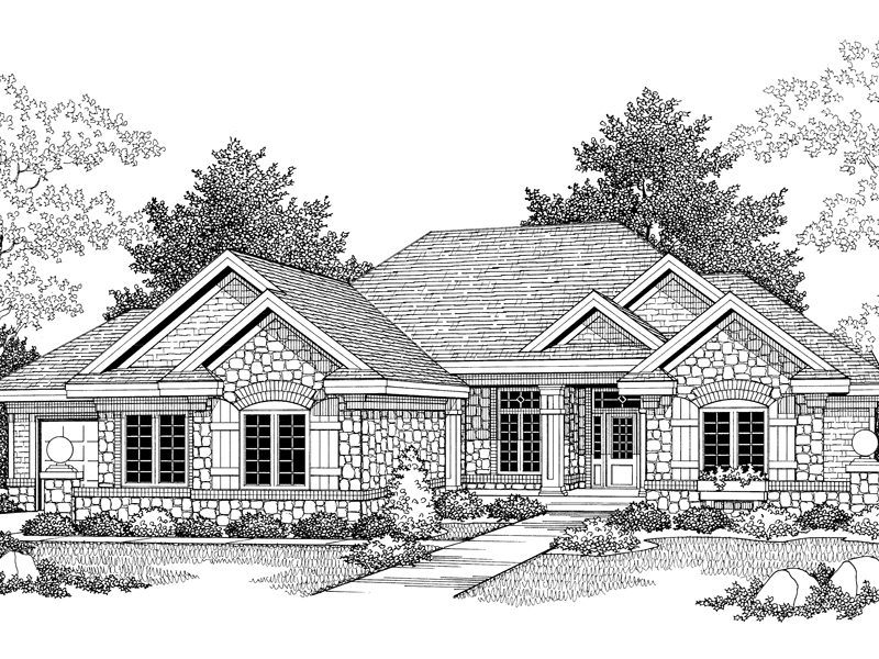 Talon European Ranch Home Plan 051D 0305 House Plans and