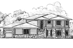 Simplistic Prairie Style House With Two Stories