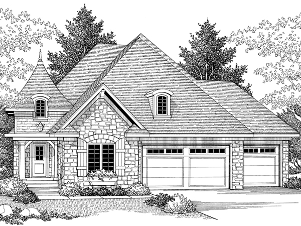 Goodspring English Cottage Home Plan 051d 0344 House