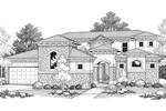 Luxury Santa Fe Style Home With Elegant Courtyard Entrance