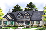 Cape Cod Style Home With Sizable Roof Dormers