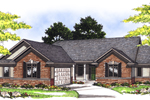 Brick Ranch House With Side Entry Garage