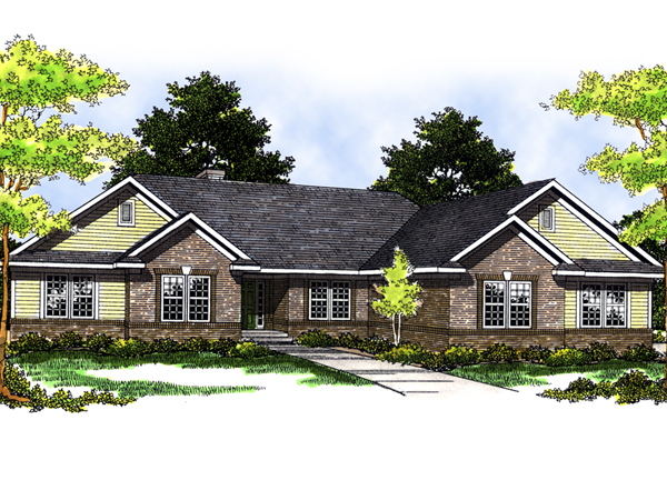 Oswaldo traditional ranch home plan 051d 0423 house for Traditional ranch home plans