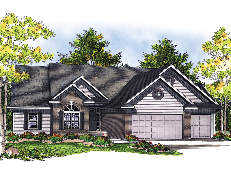 Traditional House Plan Front of Home - 051D-0450 | House Plans and More