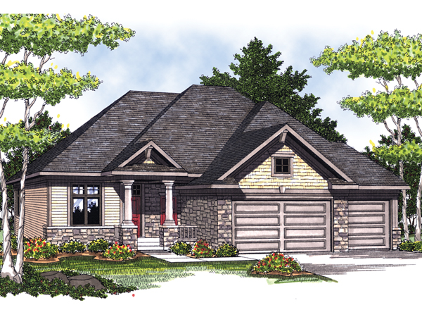 Torio craftsman ranch home plan 051d 0457 house plans Ranch craftsman style house plans