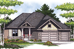 Ranch Home Has Craftsman Style With Stone Accents
