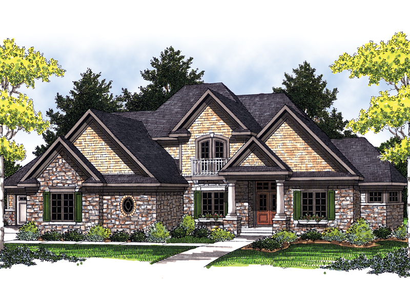 European House Plan Front Image - 051D-0466 | House Plans and More