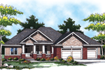 Distinctive Columns Provide A Stunning Entry Into This Craftsman Inspired Ranch