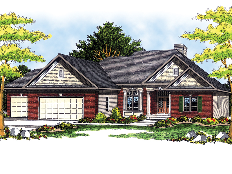Traditional House Plan Front of Home - 051D-0482 | House Plans and More