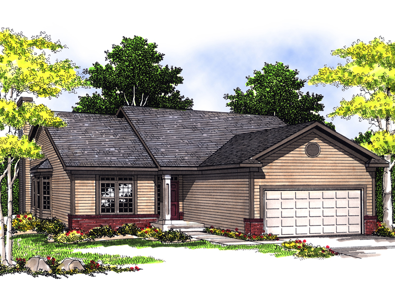 Simple But Classic Ranch Home Design Perfect For A Narrow Lot