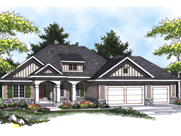 Beale arts and crafts home plan 051d 0530 house plans for Arts and crafts house plans