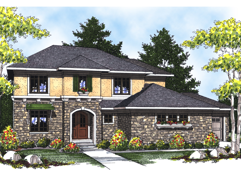 Adobe House Plans & Southwestern Home Design Front of Home - 051D-0535 | House Plans and More