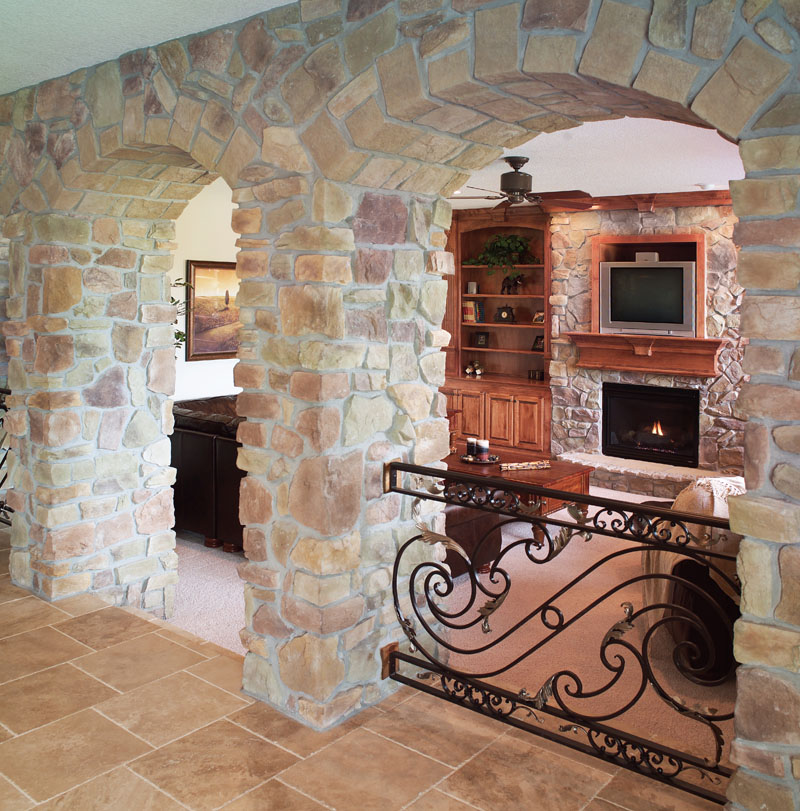 Prairie Style Floor Plan Fireplace Photo 02 051D-0544